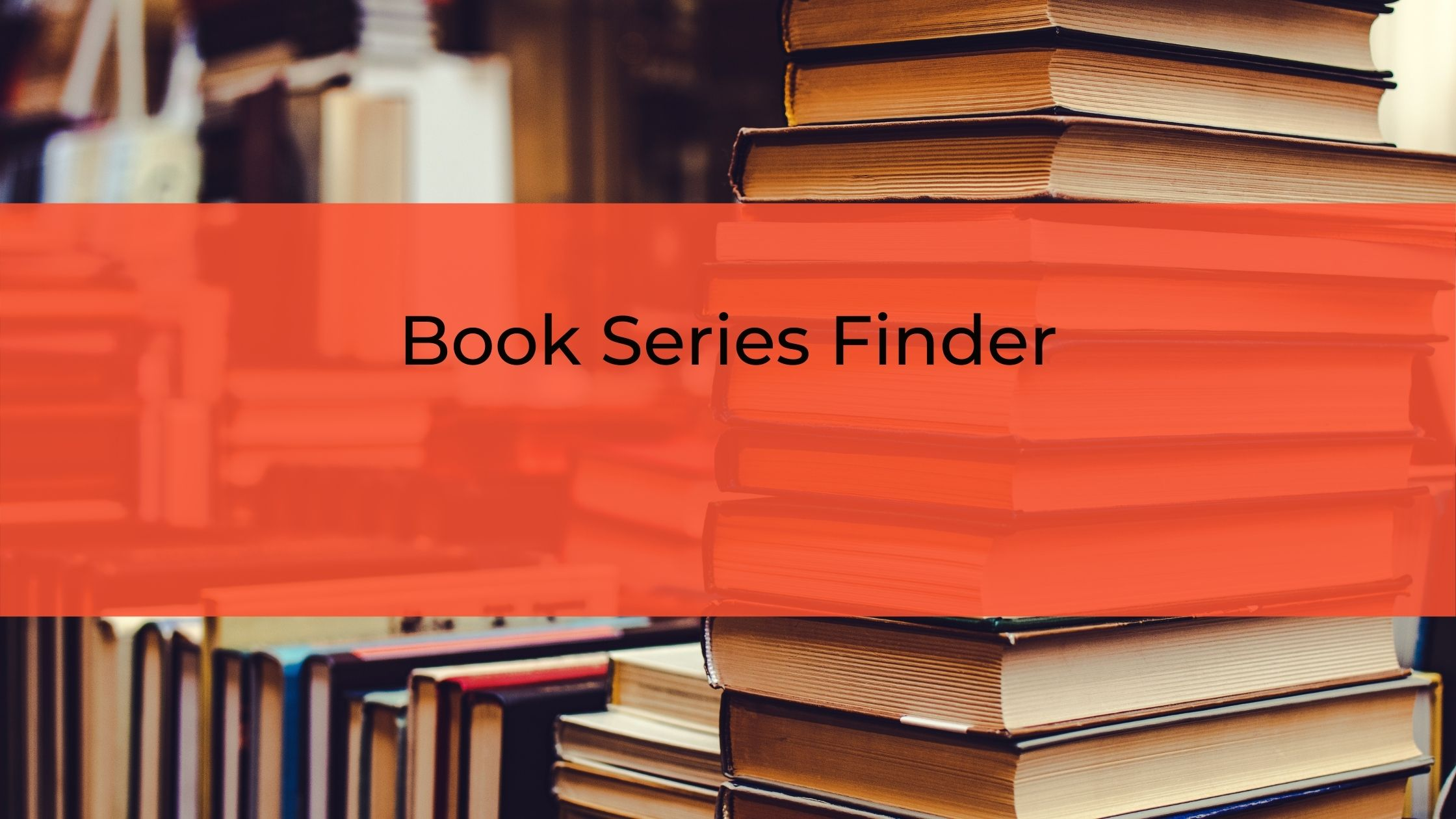 Book Series Finder Banner